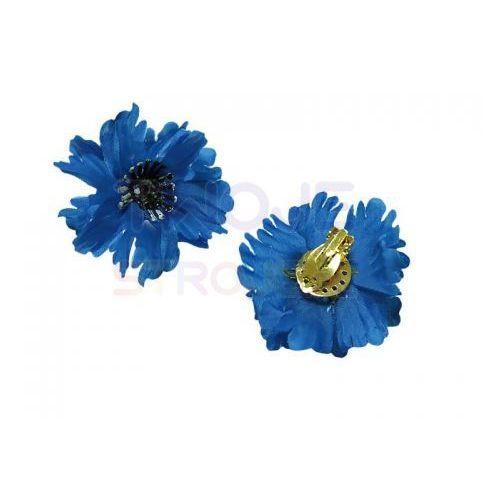 Klipsy kwiaty niebieskie marki Lilalo.pl