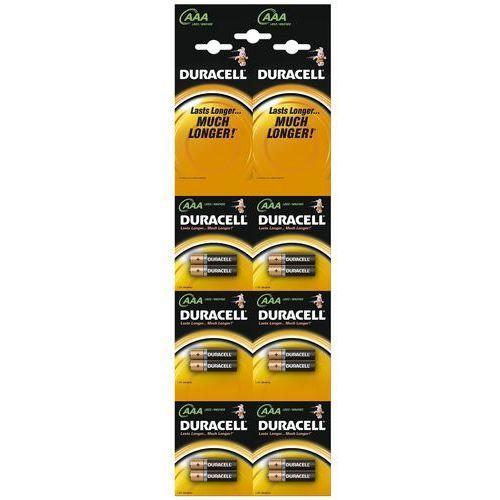Baterie alkaliczne Duracell Duralock C&B LR03/AAA (blister) 12 sztuk