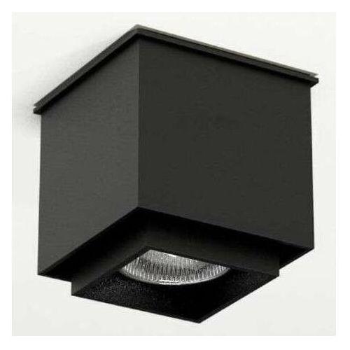 Downlight LAMPA sufitowa KAZO 1107 Shilo natynkowa OPRAWA reflektorowa do łazienki kostka cube czarna, 1107