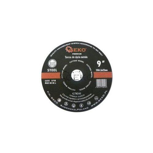 Tarcza do cięcia metalu GEKO PREMIUM 230x1.6 25/100, G78241