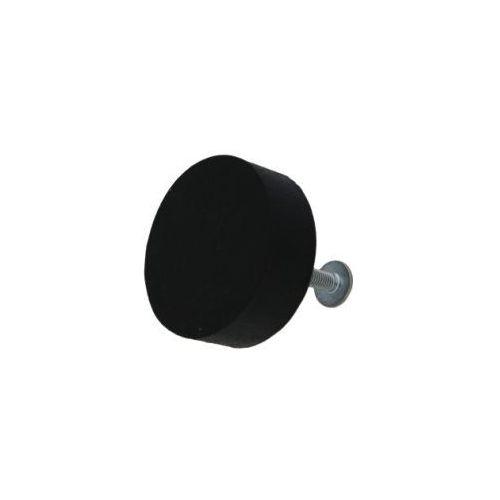 Home-idea Gałka do mebli kółko drewniane czarne (duże)