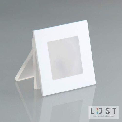 LDST Oprawa LED ANGEL 9LED 230V 1,2W: Barwa światła - zielona, Kolor oprawy - biały AN-01-B-ZI9 - Autoryzowany partner LDST, Automatyczne rabaty.