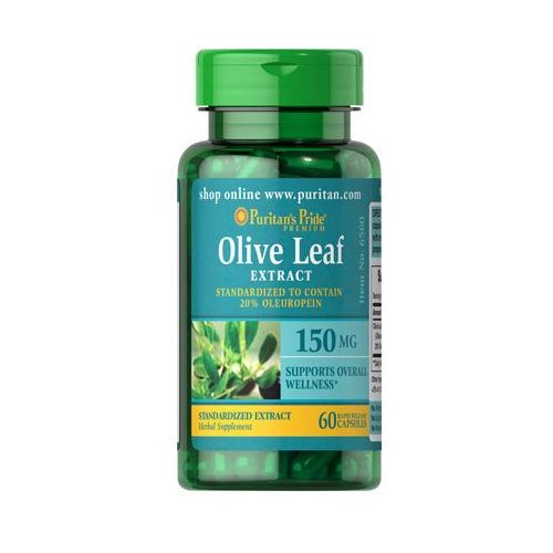 Liść oliwny ekstrakt 150mg Olive leaf extract 60 kapsułek Puritan's Pride