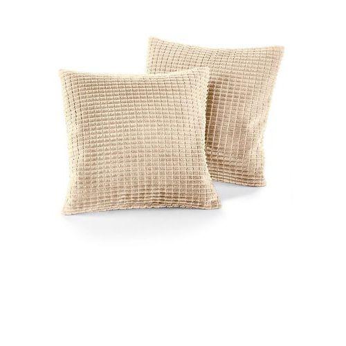 Narzuta na sofę w wypukły wzór bonprix kremowy