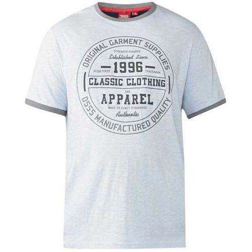 T-shirt z nadrukiem błękitny D555 Wilfred 7XL-8XL