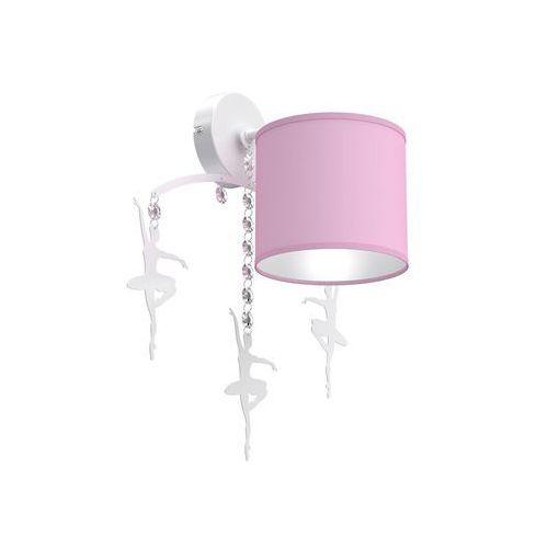 Milagro Baletnica Pink MLP4971 kinkiet lampa dziecięca 1x60W E27 biały mat / różowy