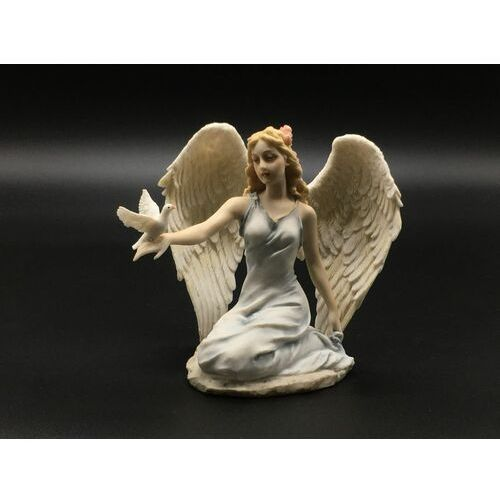 Usa Jasny klęczący anioł z gołębiem veronese wu76000aa