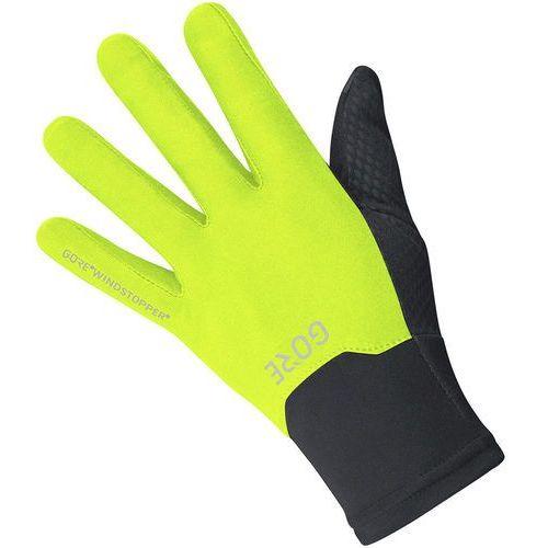 windstopper rękawiczka rowerowa żółty/czarny l 2018 rękawiczki szosowe marki Gore wear