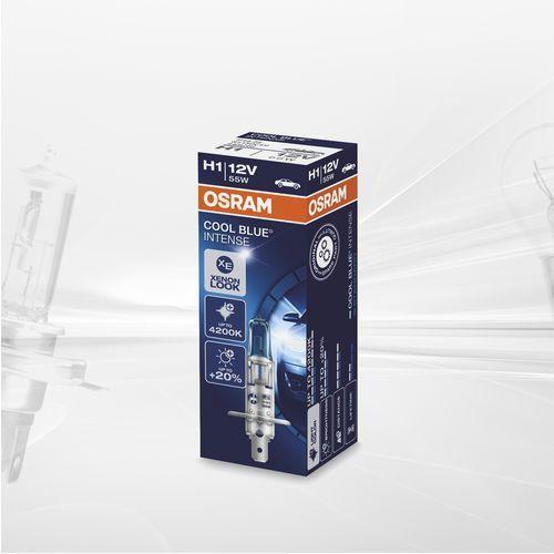 OSRAM H1 12V 55W P14,5s COOL BLUE® Intense (temperatura barwowa do 4200K), O-64150CBI-HCB PL