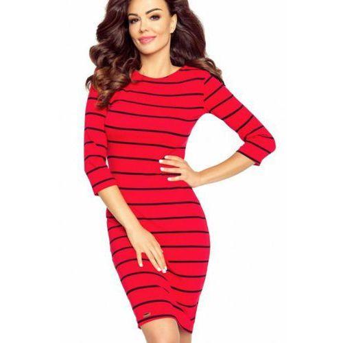 Sukienka Model 27-10 Eleonora Red Paski