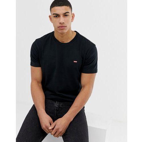 Levi's small batwing patch logo t-shirt in black - Black, kolor czarny