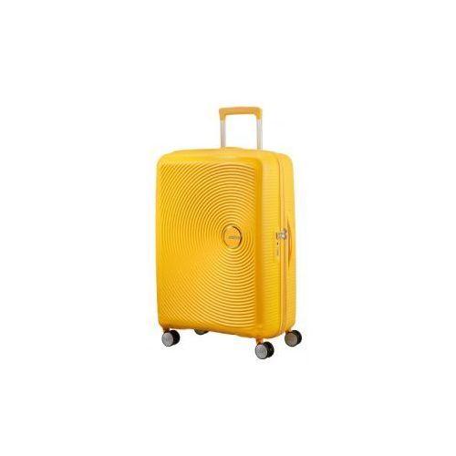 SOUNDBOX walizka średnia renomowanej marki AMERICAN TOURISTER 4 koła zamek szyfrowy TSA materiał 100% polipropylen możliwość poszerzenia