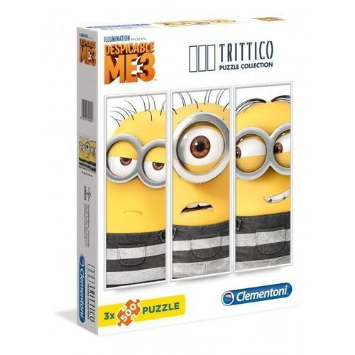 3x500 Elementów Trittico Minionki - Clementoni