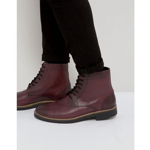 military lace up boots in hi shine ox - red, Frank wright