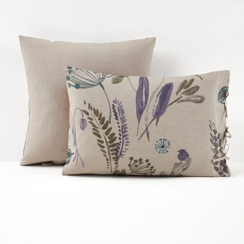 La redoute interieurs Poszewka na poduszkę, 100% dekatyzowanego lnu, craft garden