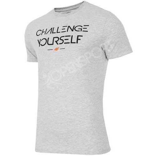4f Koszulka męska t-shirt h4l17-tsm020 szary melanż xxl