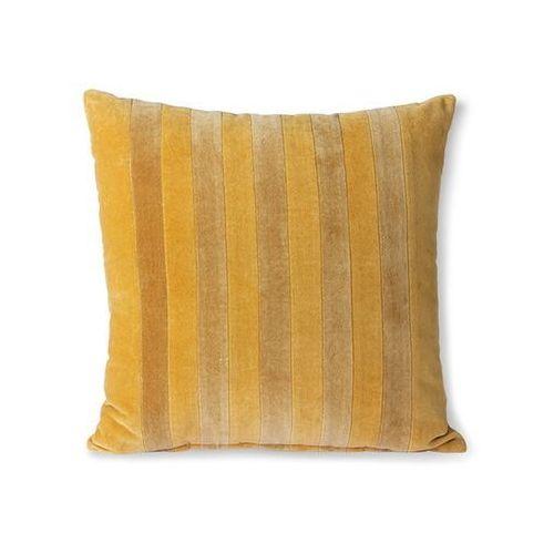 poduszka velvet w paski musztarda/złoto (45x45) tku2114 marki Hkliving