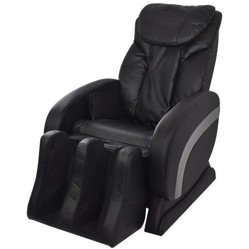 vidaXL Elektryczny fotel masujący ze sztucznej skóry, czarny