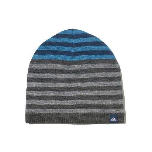 Adidas performance stripy czapka dark grey heather/blue night/white (4058032215738)