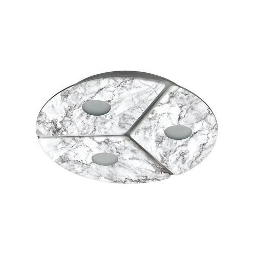 Eglo ALISTE Lampa Sufitowa LED Siwy, Biały, 3-punktowe - Nowoczesny - Obszar wewnętrzny - ALISTE - Czas dostawy: od 10-14 dni roboczych, 96486