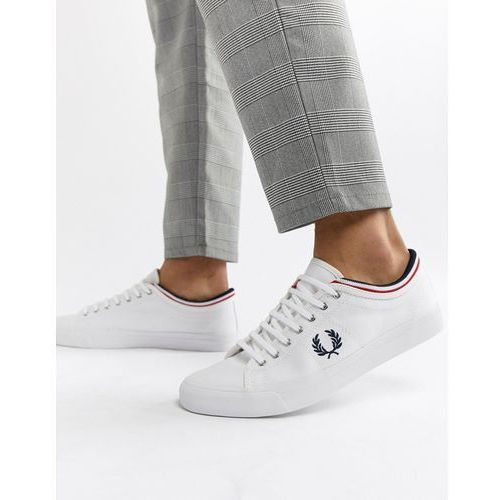 Fred Perry Kendrick Canvas Plimsolls In White - White