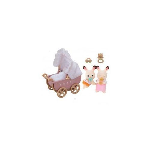Sylvanian Families Bliźniaki z czekoladowymi uszkami +wózek, CentralaZ7941