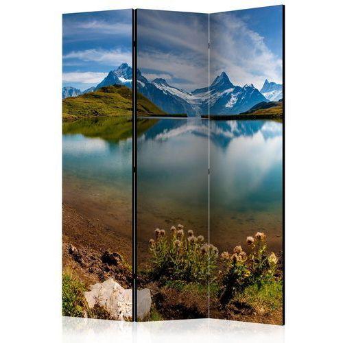 Artgeist Parawan 3-częściowy - góry odbijające się w tafli jeziora, szwajcaria [room dividers]