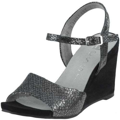 Sandały Nessi 17150 - Czarne gad + czarne 19, kolor czarny