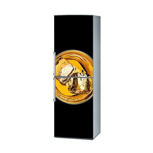 Mata magnetyczna na lodówkę - Whiskey na na czarnym tle 4295