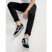 Only & Sons Skinny Jeans With Distressed Biker Knees - Black, jeans