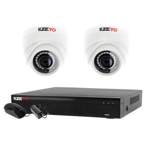 Monitoring 2 kamery zestaw do monitoringu firmy biura rejestrator 4 kanałowy LV-XVR44SE 2x kamera LV-AL1M2FDPWH, ZM7482