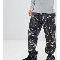 revived camo cargo trousers in black - black, Reclaimed vintage, S-L