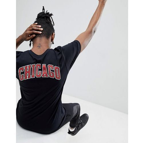 New era nba chicago bulls t-shirt with back print in black - black
