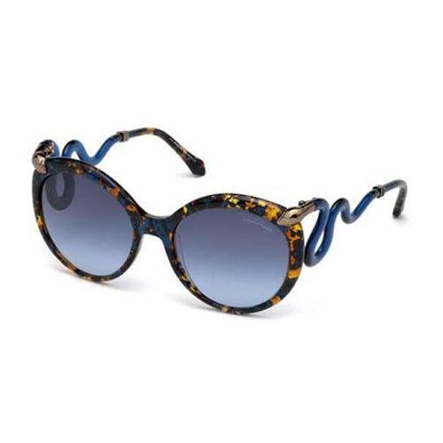 Okulary Słoneczne Roberto Cavalli RC 1037 CASTELLINA 55W, kolor żółty