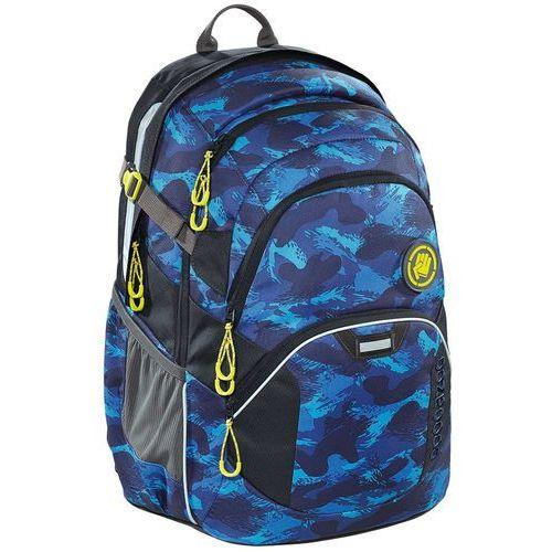"""Coocazoo JobJobber II plecak szkolny 45 cm / laptop 15,4"""" / Brush Camou - niebieski, kolor niebieski"""
