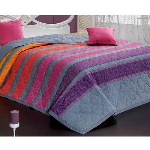 Carbotex narzuta na łóżko elle fioletowa 220x240 + 2x 40x40 cm (8592850310450)