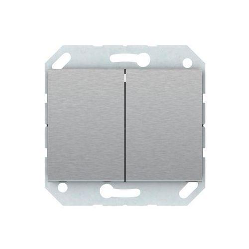 Włącznik schodowy VILMA P(6+6)10-020-02ST STAL NIERDZEWNA DPM (4779101416510)