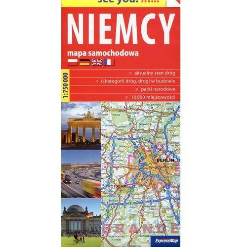 Niemcy Mapa Samochodowa 1:750 000, książka z kategorii Geografia