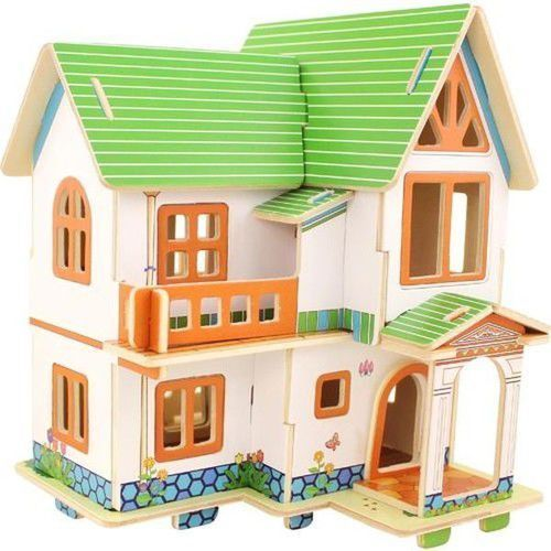 Anek Drewniany dom 3d european house 33 elementy (6946785103861)