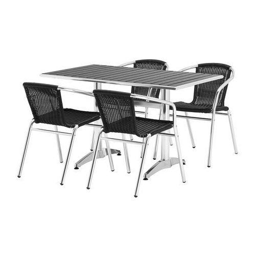 Zestaw – prostokątny stół kawiarniany + 4 krzesła, 131402