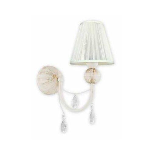 agnis o2290 k1 ab kinkiet lampa ścienna 1x60w e27 antyczna biel / kremowy marki Lemir