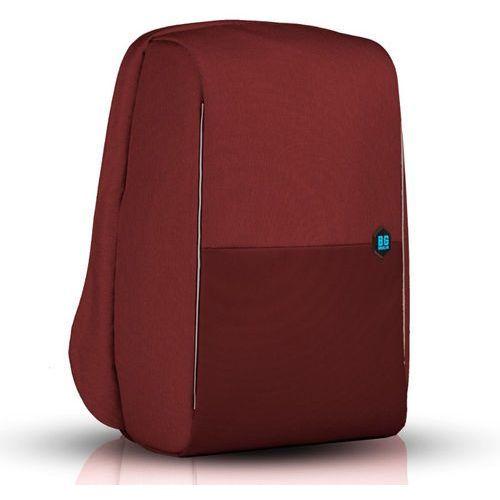 """BG Berlin MetroBag plecak na laptopa 17"""" / antykradzieżowy / czerwony - Syrah, kolor czerwony"""