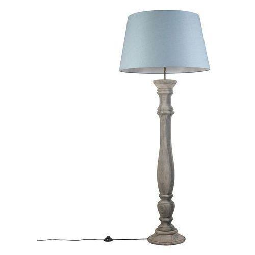 Lampa podlogowa Ritual szara z niebieskim kloszem 70cm