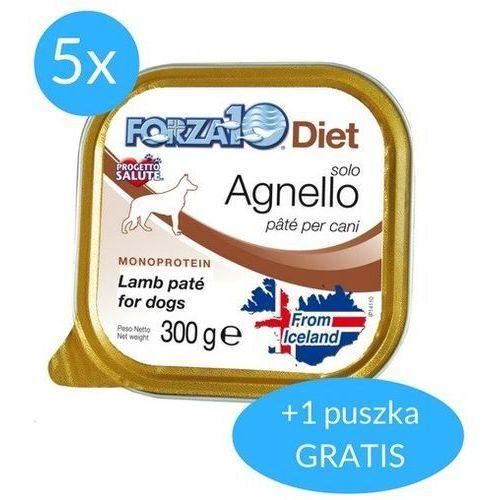 Forza10 Solo Diet dla psa 5x300g + 300g GRATIS (1,8kg): smak - jagnięcina DOSTAWA 24h GRATIS od 99zł