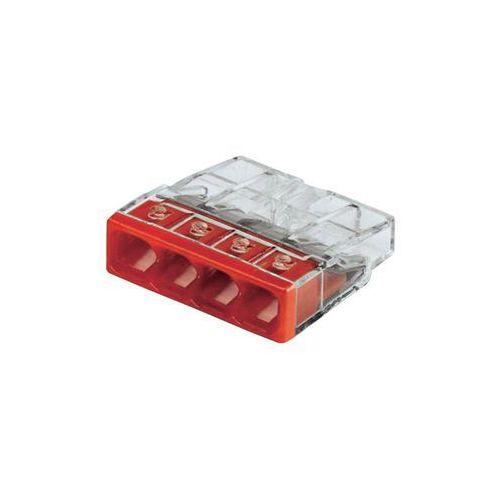 Złącze do puszki podtynkowej 2273-204/ve00-100 ilość pin: 4 2273-204 20 szt. przezroczysty, czerwony marki Wago