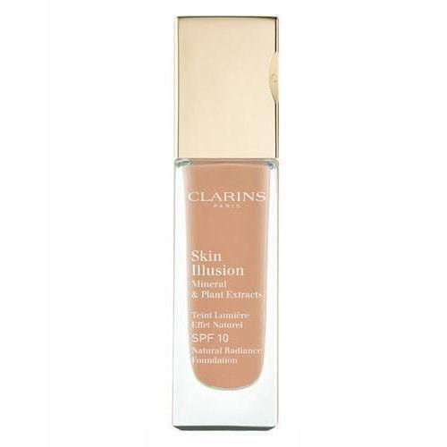 Clarins face make-up skin illusion podkład rozświetlający dający naturalny efekt spf 10 odcień 112 amber (natural radiance foundation with mineral & p