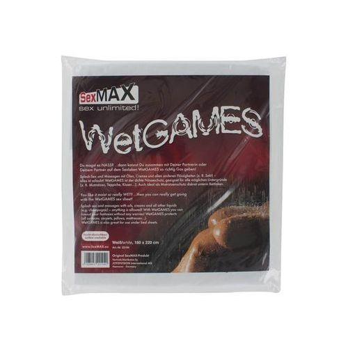 Joydivision  sexmax wetgames sex-laken 180 x 220 (białe) (4028403221040)