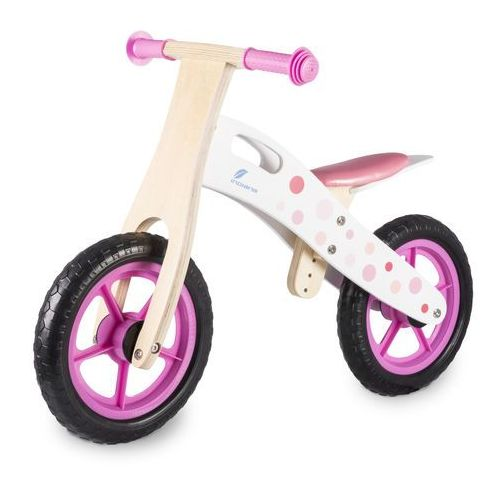 Rowerek biegowy INDIANA drewniany Różowy + DARMOWY TRANSPORT!