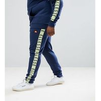 joggers with taping in navy - navy, Ellesse, XXXL-XXXXL