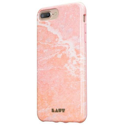 Laut HUEX ELEMENTS - Etui iPhone 7 Plus / iPhone 6s Plus / iPhone 6 Plus z 2 foliami na ekran w zestawie (Marble Pink)